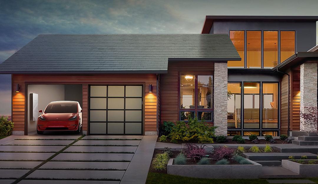 Una Tesla sul tetto